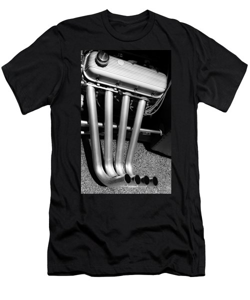 Men's T-Shirt (Slim Fit) featuring the photograph Straight Pipes - Chevrolet Engine Headers by Steven Milner