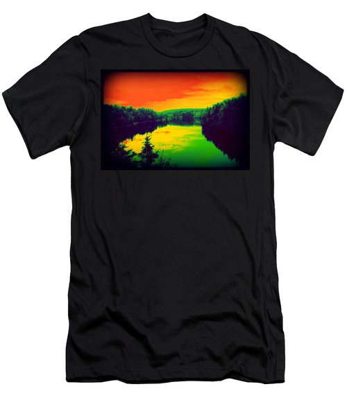 Men's T-Shirt (Slim Fit) featuring the digital art Strange River Scene by Jason Lees