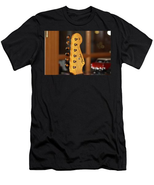 Stratocaster Headstock Men's T-Shirt (Slim Fit) by Chris Thomas