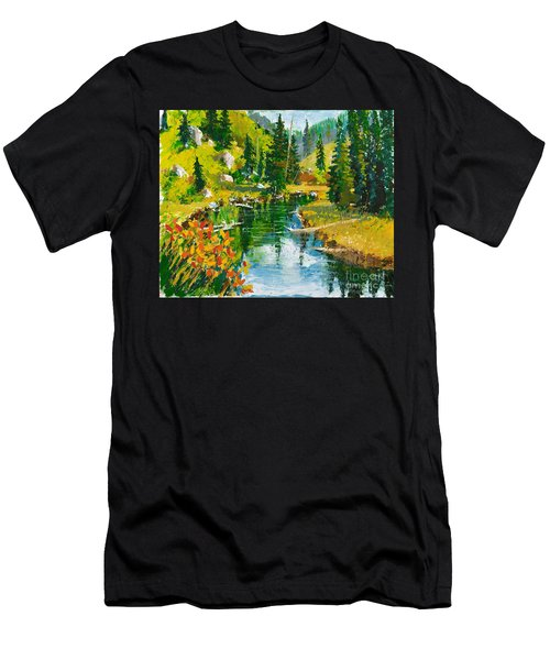 Strawberry Reservoir Men's T-Shirt (Athletic Fit)