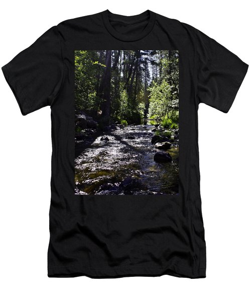 Men's T-Shirt (Slim Fit) featuring the photograph Stream by Brian Williamson