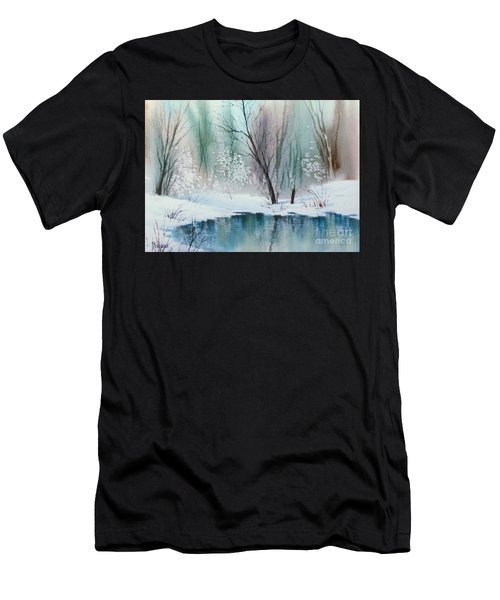Stream Cove In Winter Men's T-Shirt (Athletic Fit)