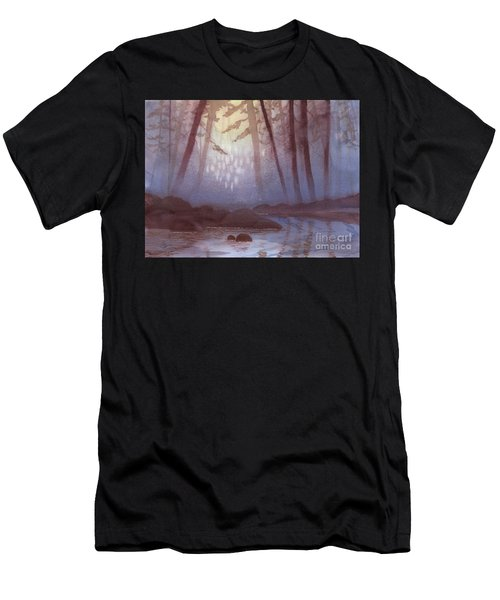 Stream In Mist Men's T-Shirt (Athletic Fit)