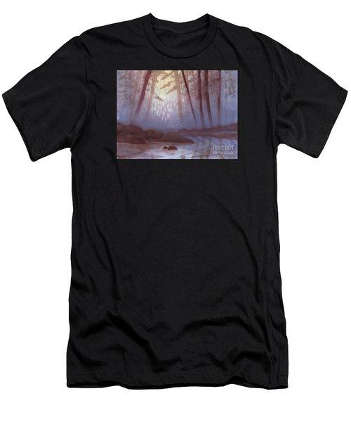 Stream In Mist Men's T-Shirt (Athletic Fit)