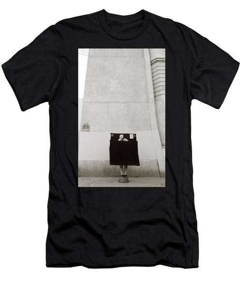 Paris Surrealism Men's T-Shirt (Slim Fit) by Shaun Higson