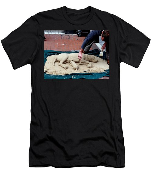 Street Artist Men's T-Shirt (Slim Fit) by Richard Rosenshein