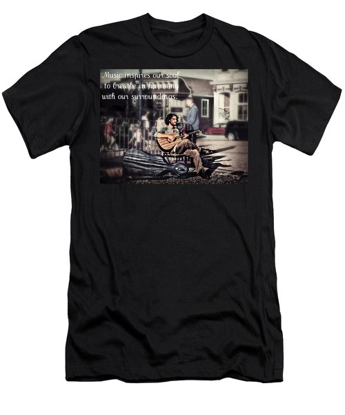 Men's T-Shirt (Slim Fit) featuring the photograph Street Beats Inspiration by Melanie Lankford Photography