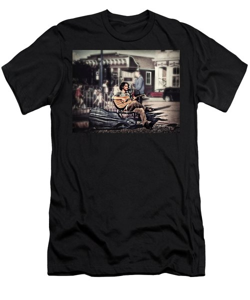 Men's T-Shirt (Slim Fit) featuring the photograph Street Beats by Melanie Lankford Photography
