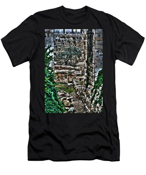 Men's T-Shirt (Slim Fit) featuring the photograph Street In Jerusalem by Doc Braham