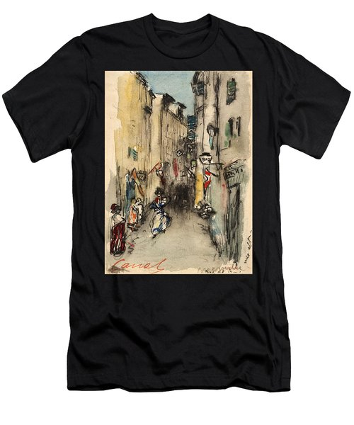 Street In Marseille Men's T-Shirt (Athletic Fit)