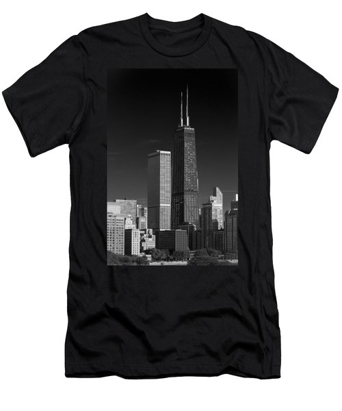 Streeterville Chicago Illinois B W Men's T-Shirt (Athletic Fit)