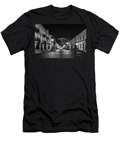 Streets Before Christmas Men's T-Shirt (Athletic Fit)