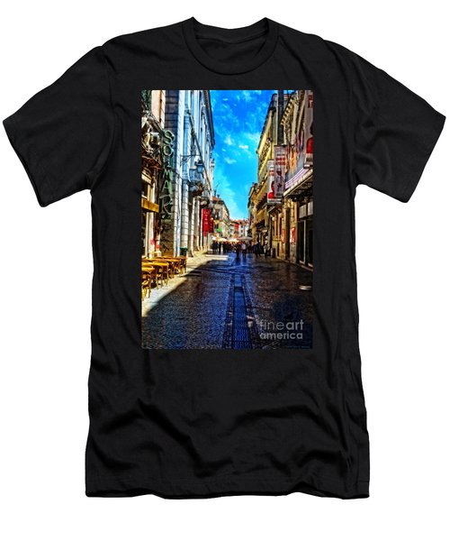 Streets Of Lisbon 1 Men's T-Shirt (Slim Fit) by Mary Machare