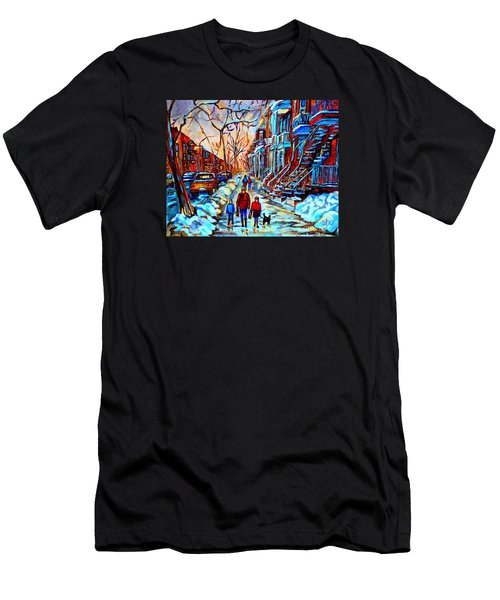 Streets Of Montreal Men's T-Shirt (Slim Fit) by Carole Spandau