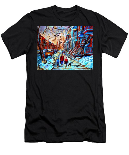 Streets Of Montreal Men's T-Shirt (Athletic Fit)