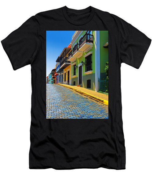 Streets Of Old San Juan Men's T-Shirt (Athletic Fit)