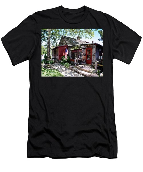 Men's T-Shirt (Slim Fit) featuring the photograph Strode Mill West Chester Pa by Polly Peacock