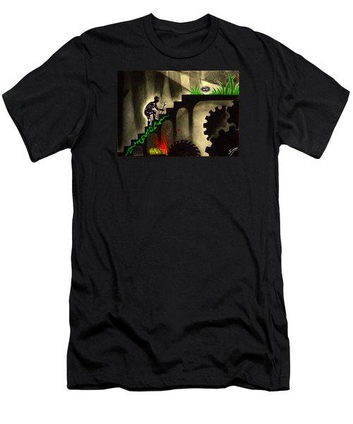 Life's Struggle Men's T-Shirt (Slim Fit) by Salman Ravish