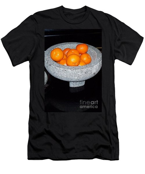 Study In Orange And Grey Men's T-Shirt (Slim Fit) by Susan Williams