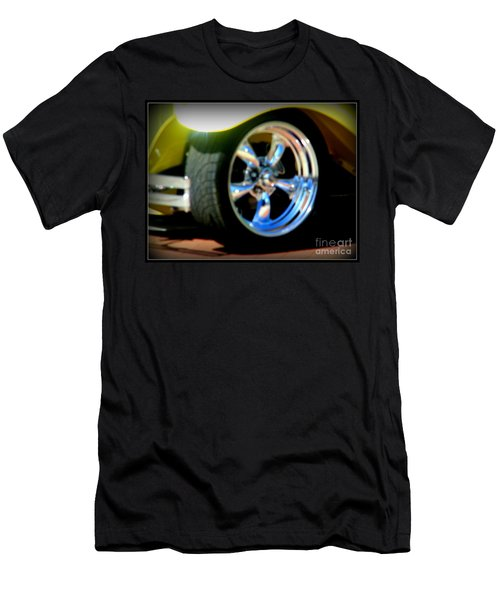 Men's T-Shirt (Slim Fit) featuring the photograph Stylin' Wheels by Bobbee Rickard