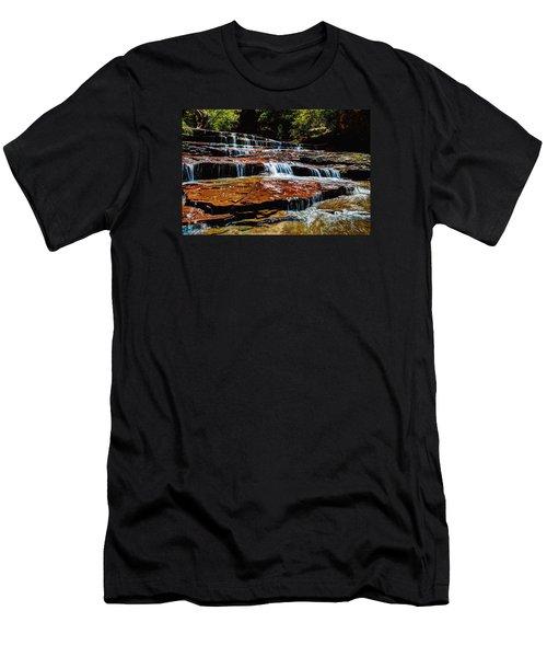 Subway Falls Men's T-Shirt (Slim Fit) by Chad Dutson