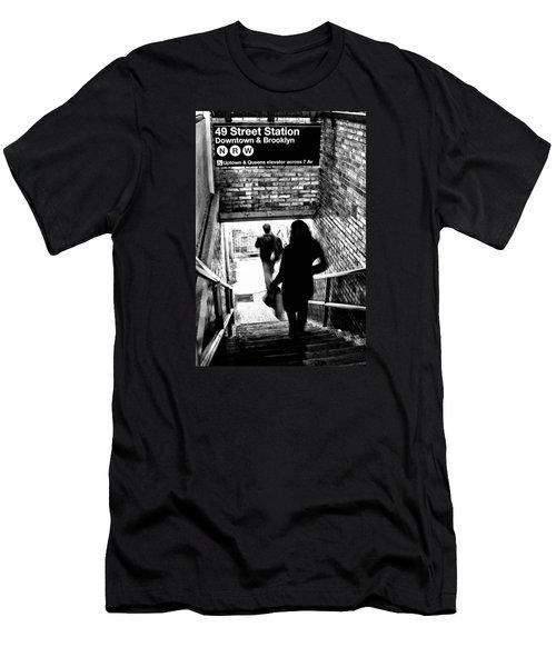 Subway Shadows Men's T-Shirt (Slim Fit) by Karol Livote