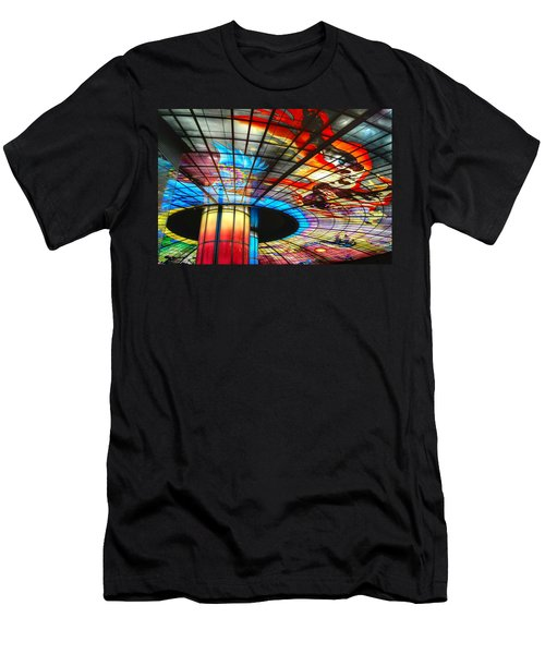 Subway Station Ceiling  Men's T-Shirt (Athletic Fit)