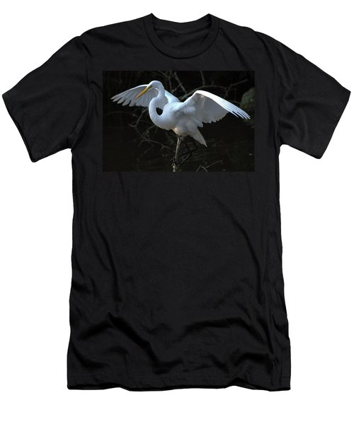Men's T-Shirt (Slim Fit) featuring the photograph Successful Hunt by Charlotte Schafer