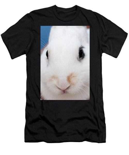 sugar the easter bunny 1 -A curious and cute white rabbit close up Men's T-Shirt (Athletic Fit)