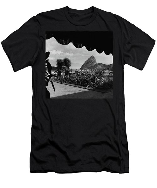 Sugarloaf Mountain Seen From The Patio At Carlos Men's T-Shirt (Athletic Fit)
