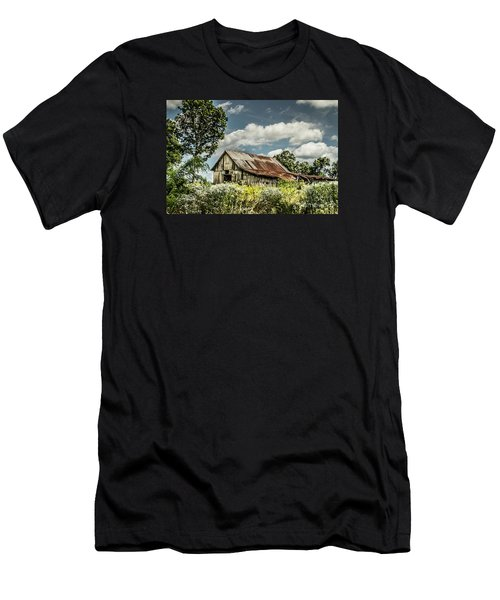 Men's T-Shirt (Slim Fit) featuring the photograph Summer Barn by Debbie Green