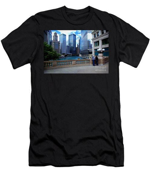 Summer Breeze On The Chicago River - Color Men's T-Shirt (Athletic Fit)
