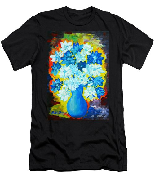 Men's T-Shirt (Slim Fit) featuring the painting Summer Daisies by Ramona Matei
