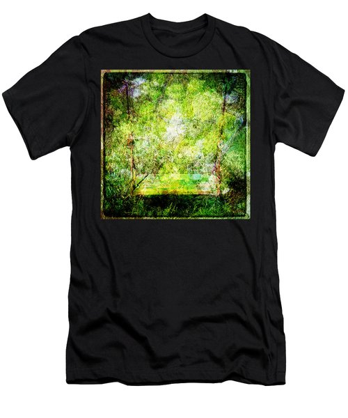Men's T-Shirt (Slim Fit) featuring the mixed media Summer Days Of Yore #1 by Sandy MacGowan
