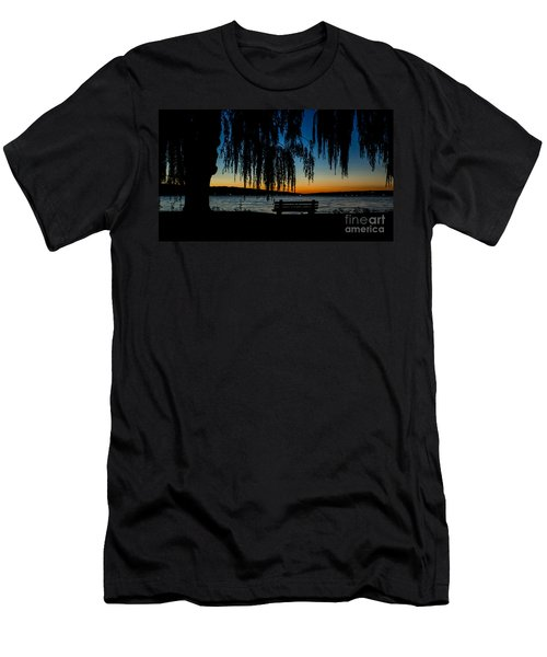 Summer Evening At Stewart Park Men's T-Shirt (Athletic Fit)