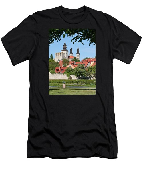 Summer Green Medieval Town Men's T-Shirt (Athletic Fit)