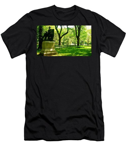 Summer In Central Park Manhattan Men's T-Shirt (Athletic Fit)