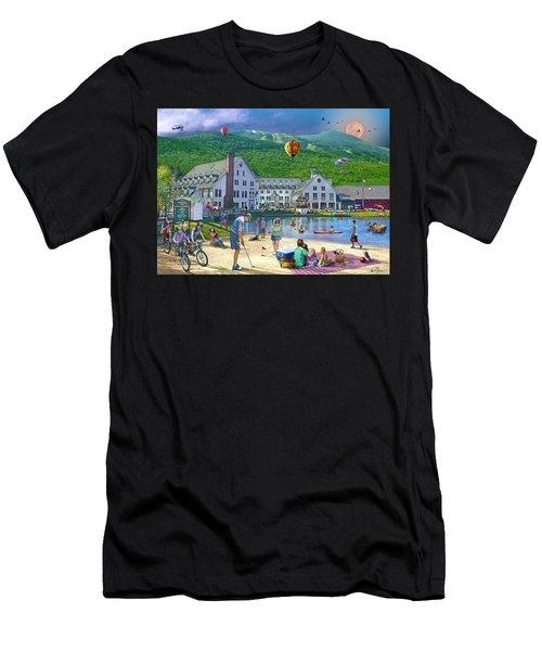 Summer In Waterville Valley Men's T-Shirt (Athletic Fit)