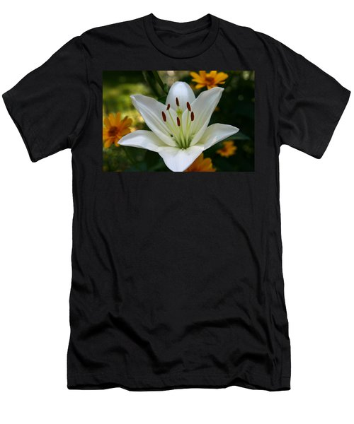 Men's T-Shirt (Slim Fit) featuring the photograph Summer Lily by Denyse Duhaime