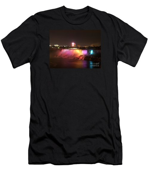 Summer Night In Niagara Falls Men's T-Shirt (Athletic Fit)