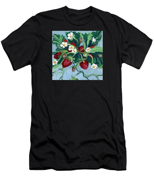 Summer Strawberries Men's T-Shirt (Athletic Fit)