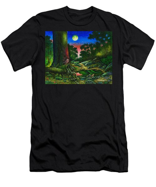 Summer Twilight In The Forest Men's T-Shirt (Athletic Fit)