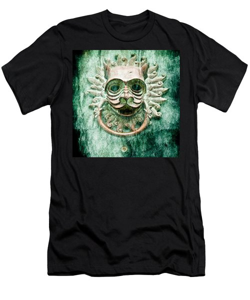 Sun Cat Door Knocker Old Polar Men's T-Shirt (Athletic Fit)