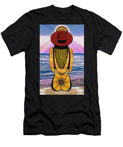 Sun Girl's Back Men's T-Shirt (Slim Fit) by Joseph J Stevens
