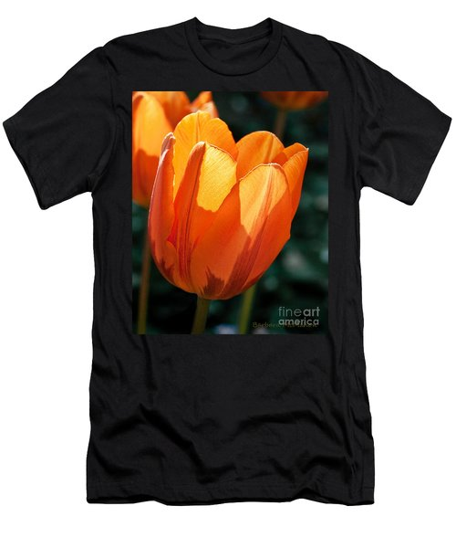 Men's T-Shirt (Slim Fit) featuring the photograph Sun Kissed Tulip by Barbara McMahon