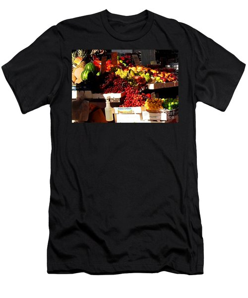 Men's T-Shirt (Slim Fit) featuring the photograph Sun On Fruit Close Up by Miriam Danar