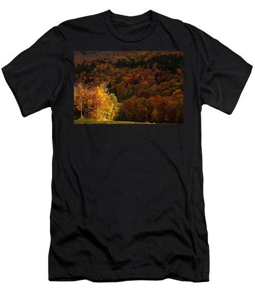 Sun Peeking Through Men's T-Shirt (Slim Fit) by Jeff Folger