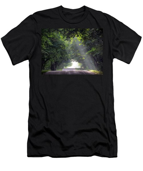 Sun Rays On Waters End Road Men's T-Shirt (Athletic Fit)