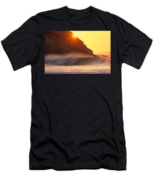 Men's T-Shirt (Athletic Fit) featuring the photograph Sun Star Singing Beach by Michael Hubley