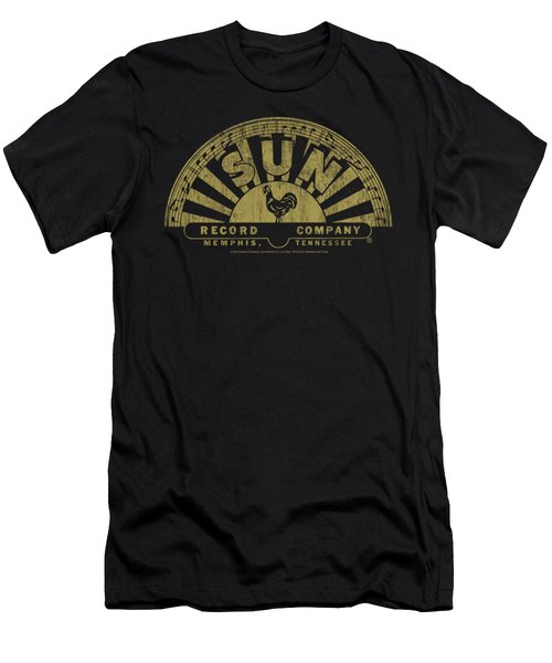Sun - Tattered Logo Men's T-Shirt (Slim Fit) by Brand A